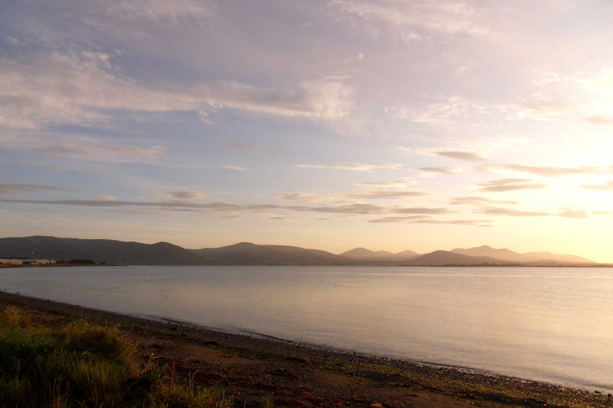 The Mourne Mountains from Carlingford Shore